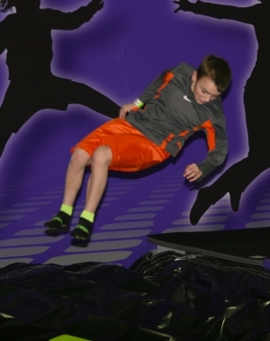 Child Having Fun at Appleton Air Bag Stunt Jump