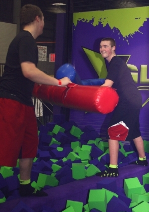 Two Boys Gladiator Jousting in Appleton